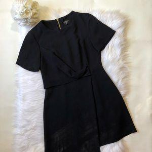Top Shop Petite Navy Blue Short Sleeve Dress Sz 6